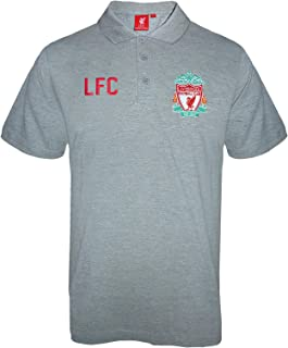 d20cf22b3 Liverpool FC Official Football Gift Mens Crest Polo Shirt