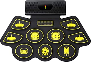 Foldable Hand-Rolled Silicone Usb Electronic Drum, Portable Drum Kit With Pedals, Drum Pad Kit, Jazz Drums, Adult Beginner...