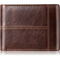 Deals on Genuine Leather RFID Thin Bifold Wallets For Men