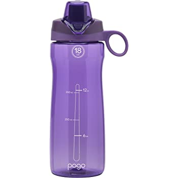 pogo Botella de Agua con Tapa deslizable, de plástico sin BPA, 532.32 ml