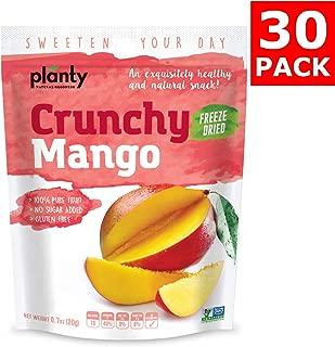 Planty Freeze Dried Mango Fruit Snacks, Crunchy Fruit Crisps / Fruit Chips (Mango, 30-Pack)
