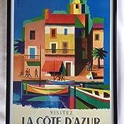 Nathan Visit Cote D/'azur Railway Travel Advert Framed Wall Art Poster