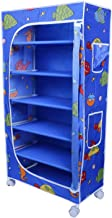 Little One's | 6 Shelves Foldable Wardrobe/Toy Box | Aquatic Blue (Made in India)