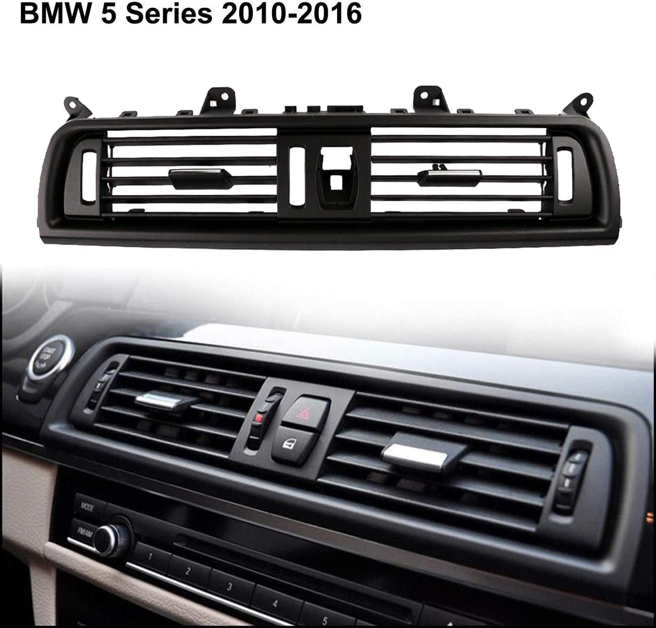 Left-Chrome ALAVENTE Front Air Grille Console Grill Dashboard AC Air Conditioning Air Vent for BMW 5 Series 520 523 525 528 530 535 64229166883