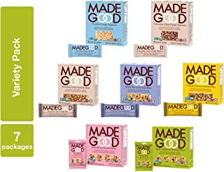 MadeGood Granola Bars/Minis 7 Box Variety Pack (38 Total Pieces)