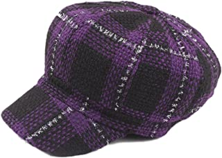 25d21f08a ZLSLZ Womens Knitting Plaid Ivy Newsboy Cabbie Gatsby Paperboy Painter Hats  Caps