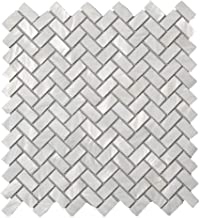 Diflart Oyster Mother of Pearl Shell Mosaic Tile, 10 Sheets/Box (Herringbone, Pearl Shell)