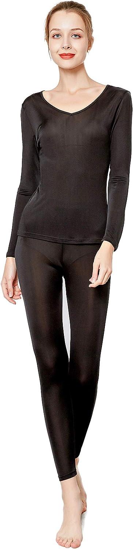 Alexander Silk Women's Mulberry Silk Knitted Thermal Underwear Set