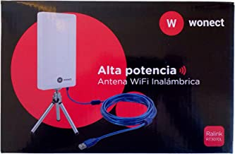 MELON N89A Antena wifi exterior e interior 2000mw + 24 dbi 10 metros usb. Receptor inalámbrico externo con módulo wireless Ralink RT3070. Compatible auditoria, wifislax, beini, backtrack.