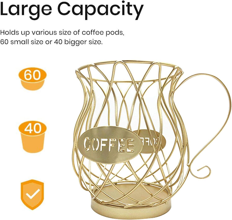 Cestino da cucina per caff/è Porta cialde da caff/è Porta capsule di caff/è Cestino per caff/è Supporto in metallo Portacapsule