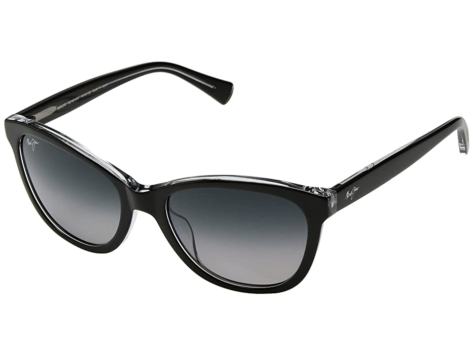 Maui Jim Canna (Black/Crystal/Neutral Grey) Athletic Performance Sport Sunglasses