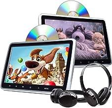 Headrest DVD Player Car DVD Player Inch DVD Player Headrest Monitors, Dual Screen DVD Player Portable DVD Player for Kids Touch Screen Headrest DVD Player Digital Touch Button HDMI-C1100A