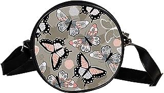 Yuzheng Umhängetasche Umhängetasche Auto Aquarell Süße runde Tasche für Jungen Mädchen 17cm