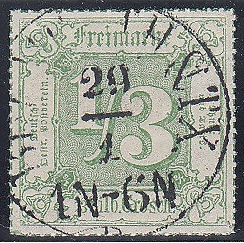 Goldhahn Thurn und Taxis Nr. 46 gestempelt geprüft Briefmarken für Sammler