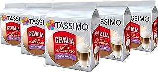 TASSIMO Gevalia - Capsulas de Latte Macchiato menos dulces - Paquete de 5, 40 bebidas
