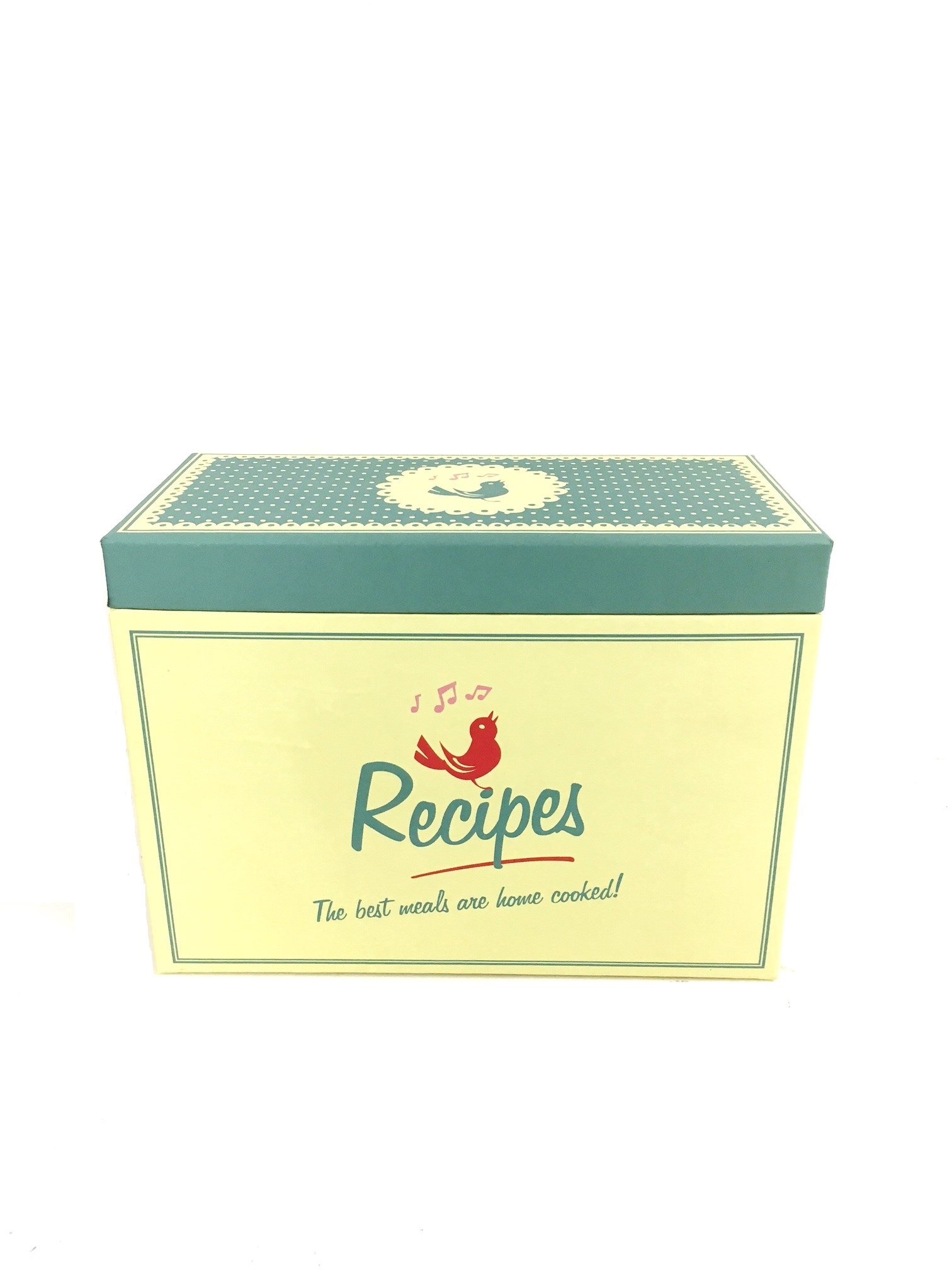 Caja de recetas con tarjeta de 6 separadores cocina unidad de almacenamiento: Amazon.es: Hogar