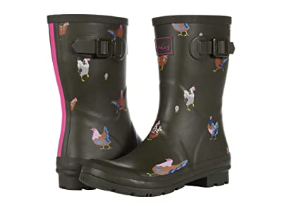 Joules Molly Welly (Khaki Chickens) Women