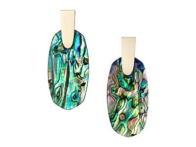 Kendra Scott Aragon Earrings (Gold/Abalone Shell) Earring
