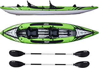 Driftsun Almanor Inflatable Recreational Touring Kayak with EVA Padded Seats with High Back Support, Includes Paddles, Pump (1 Person, 2 Person, 2 Plus 1 Child)