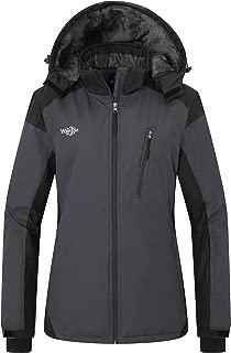 Wantdo Women's Waterproof Ski Fleece Jacket Windproof Parka Winter Rain Coat