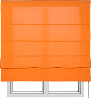 comprar comparacion Estores Basic, Stor plegable con varillas, Naranja, 150x175cm, estores para ventana, estores plegables.