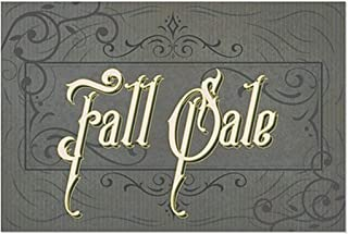 CGSignLab 2455143_5gfxw_18x12_None Fall Sale, Victorian Frame Repositionable Opaque White 1st Surface Static, Cling Non, A...