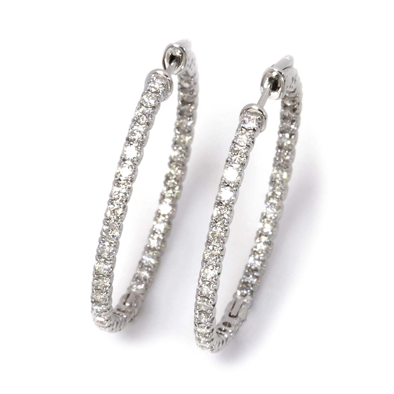 2 Minneapolis Mall Washington Mall ct tw Natural Diamond Solid Gold Inside White 14k Round Outsid