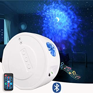 PATIOSNAP Star Night Light Projector, LED Star Projector with Moon Nebula Cloud, 3 in 1 Ocean Wave, 6 Lighting Effects, Su...