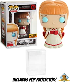 Annabelle Creation Collectible Vinyl Figure Hot Topic Exclusive Featuring Golden Groundhog Plastic Protector Bundle