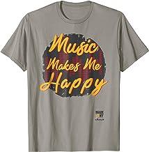 Jazz Apparel; Music Makes Me Happy T-Shirt; New York Tees