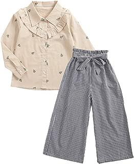 Sanlutoz Kleinkind M/ädchen Sommer Kleider Set R/üsche T-Shirt Weste Oberteile+Kurze Hose Hosen Set