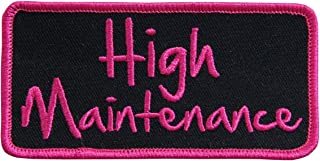 Hot Leathers, HIGH MAINTENANCE, Iron-On / Saw-On Rayon PATCH - 4