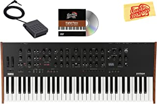 Korg Prologue 16 Polyphonic Analogue Synthesizer Bundle with Sustain Pedal and Austin Bazaar Polishing Cloth
