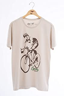 UOT Day Off Store Brazil, Short Sleeve T-Shirt, 100% Cotton, Silk Cycling Dude Front