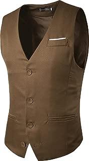 Mens Waistcoat Gilet Business Gentleman Vest Suits Blazer JZA005
