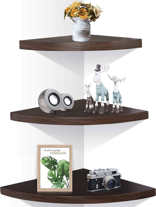 OROPY Recommendation Wall Mount Solid Wood Floating Shelves Set Ru 35% OFF Corner 3 of