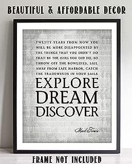 Best mark twain explore dream discover poster Reviews