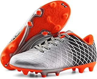 JABASIC Kids Soccer Cleats Athletic Football Shoes