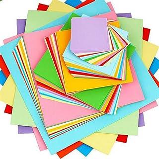 Lot de 100 feuilles de papier origami carré double face pour loisirs créatifs, scrapbooking, décoration, matériel médical ...