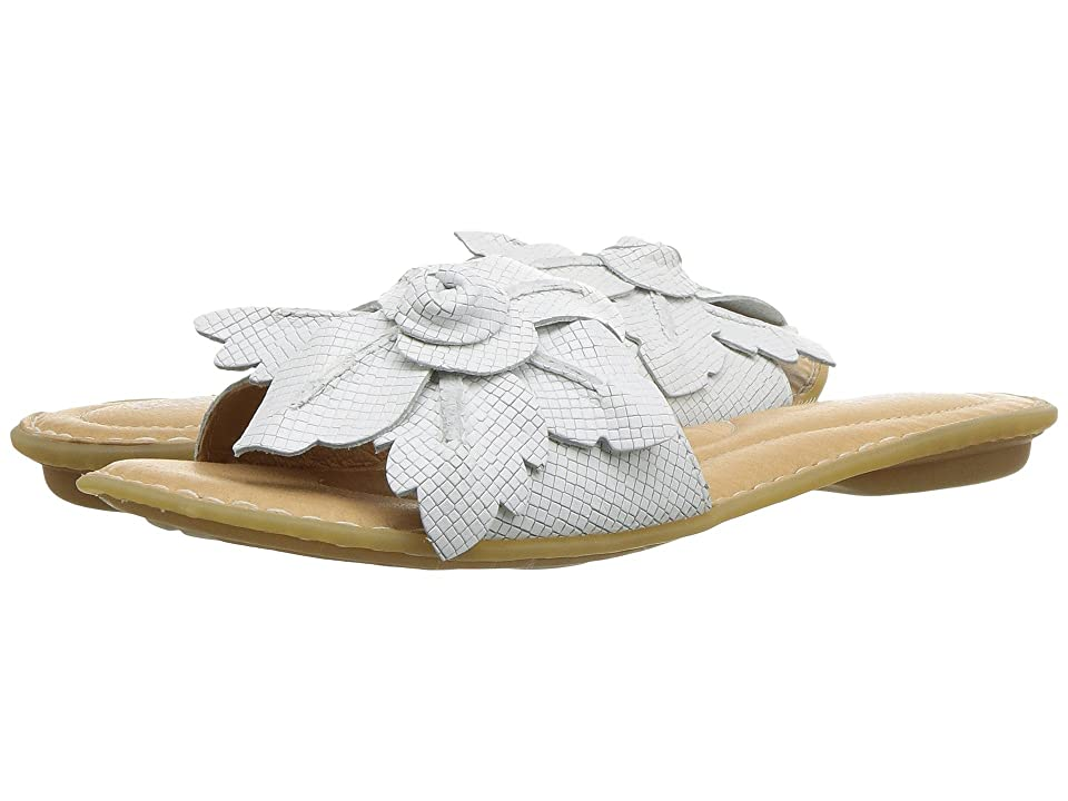 Born Mai Floral (White Embossed Full Grain Leather) Women
