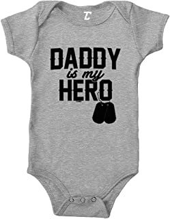 Daddy is My Hero - Military Dog Tags Bodysuit