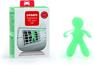 Cesare Scented Car Air Freshener - Designer Fragrance Oil Auto Accessories - Non Toxic Alcohol Free Air Freshener - Assorted Colors & Scents Available (Sandal of Kerala)