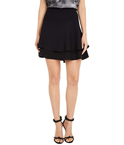 1.STATE Double Tiered Miniskirt (Rich Black) Women