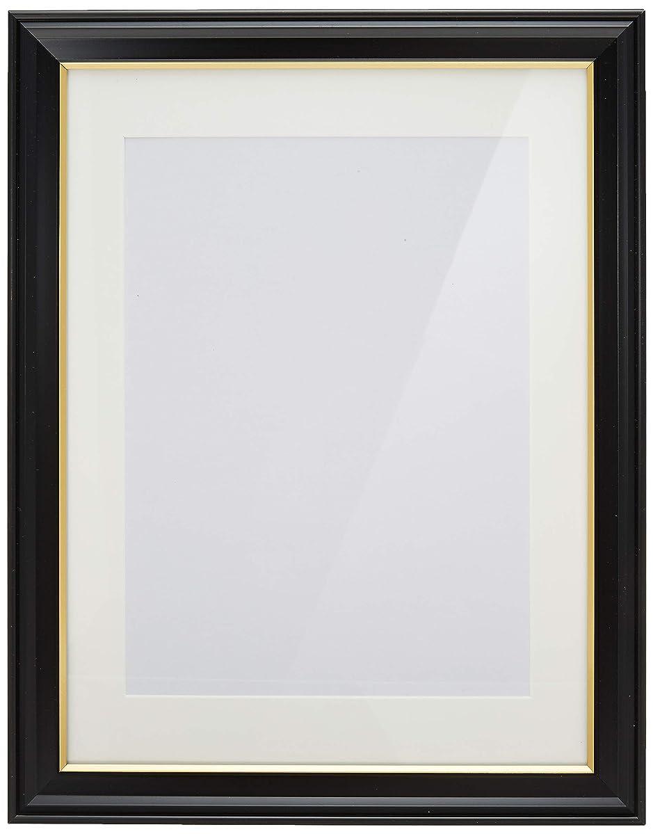 送信する学生めんどりKING 額縁 肖像額 太子判(八〇) 特殊サイズ 木製 ブラック 716675
