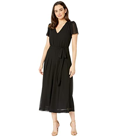 MICHAEL Michael Kors Crop Smock Detail Jumpsuit (Black) Women