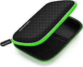 """deleyCON Borsa del Disco Rigido Custodia HDD - Per Dischi Rigidi da 2,5"""" Pollici e SSD - Robusto e Antiurto - 2 Scomparti Interni con Tasche a Rete - Verde"""