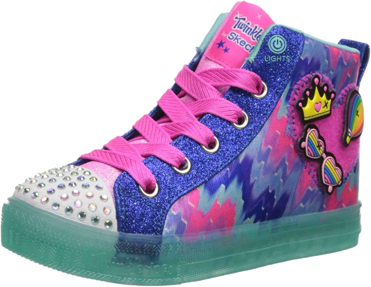 Skechers Unisex-Child Shuffle Brights-Mix Brand new Fresno Mall Sneaker Patch 'N