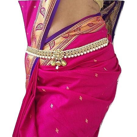 WomenSky Stylish Traditional Gold Polished Brass Kamarband for Women