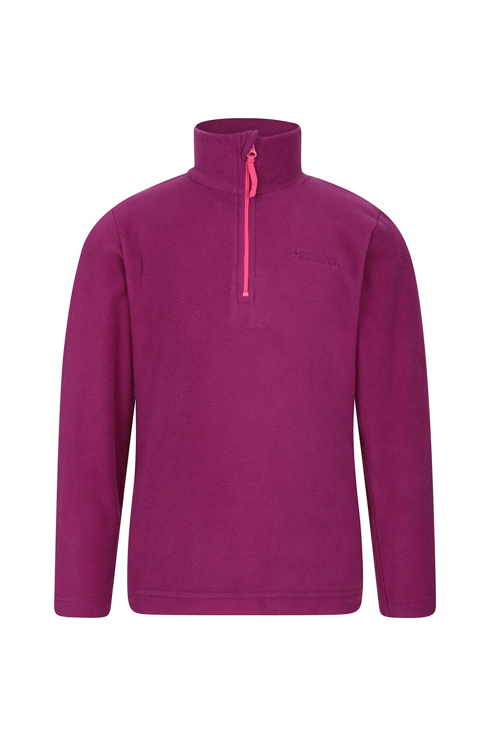 Warm Pullover Lightweight /& Breathable Sweater Outdoors Suitable for Winter Layering Quick Drying Sweatshirt Mountain Warehouse Camber Kids Fleece Top