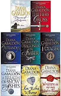 Outlander Series By Diana Gabaldon 8 Books Collection Set (Book 1-8) (Outlander, Dragonfly, Voyager, Drums Of Autumn, Fiery Cross, Snow And Ashes, An Echo in the Bone, Written in my own Heart's Blood)